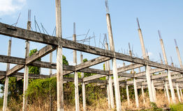Only remaining structure. Stock Photo