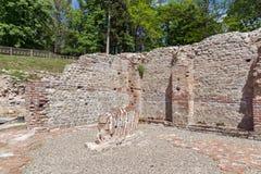 Remainings старых термальных ванн Diocletianopolis, городка Hisarya, Болгарии стоковые фото