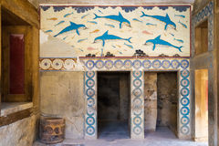 Remainings of an ancient fountain in Knossos Stock Images
