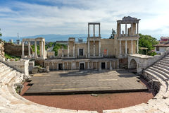 Remainings of Ancient Roman theatre in Plovdiv Stock Photos