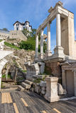 Remainings of Ancient Roman theatre in Plovdiv Stock Image