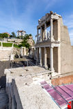 Remainings of Ancient Roman theatre in Plovdiv Royalty Free Stock Images