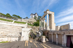 Remainings of Ancient Roman theatre in Plovdiv Stock Images