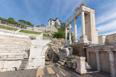 Remainings of Ancient Roman theatre in Plovdiv Royalty Free Stock Image