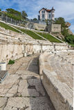 Remainings of Ancient Roman theatre in Plovdiv Royalty Free Stock Photo