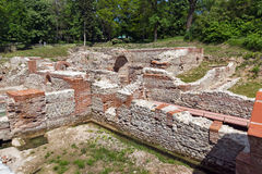 Remainings of The ancient Thermal Baths of Diocletianopolis, town of Hisarya, Bulgaria Stock Photo