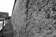 Remainings of the Berlin Wall at Bernauer Strasse stock photos