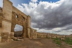 Remainings del enterance de la puerta de la universidad de Harran Imagen de archivo libre de regalías