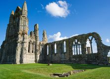 Remainings of Whitby Abbey in North Yorkshire the UK Stock Photos