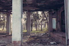 Remains of the abandoned house Royalty Free Stock Image