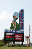 Remains of airway drive in. Marquee of old airway drive-in st louis missouri stock photo