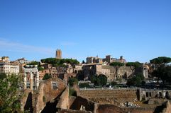 Remains of ancient architecture in Rome Royalty Free Stock Images