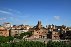 Remains of ancient architecture in Rome Stock Photography