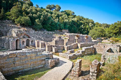 Remains of the ancient Baptistery at Butrint, Albania. royalty free stock images