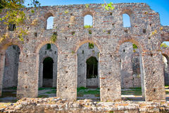 Remains of the ancient Baptistery at Butrint, Albania. royalty free stock photography