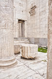 Remains of ancient buildingsin in the Acropolis of Athens. Marble remains of walls and columns  located in the Acropolis of Athens Royalty Free Stock Image