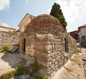 Remains of an ancient church in the sea Nessebar in Bulgaria Royalty Free Stock Photography