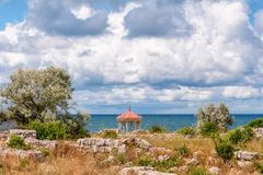 The remains of the ancient city of Chersonesus. Founded by the ancient Greeks. Hersones ruins, archaeological park Royalty Free Stock Images