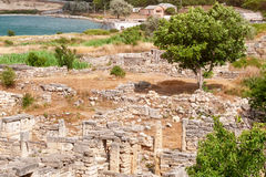 The remains of the ancient city of Chersonesus. Founded by the ancient Greeks. Hersones ruins, archaeological park Stock Images