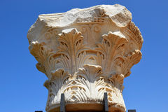 Remains of ancient corinthian columns, Israel Royalty Free Stock Images