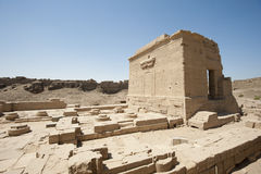 Remains of an ancient egyptian temple. Remains of the temple of cleopatra and the temple of Isis at Dendera Royalty Free Stock Photos