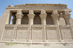 Remains of an ancient egyptian temple. With columns and hieroglyphic carvings Stock Photo