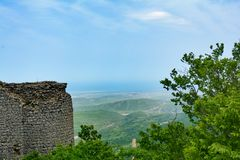 Remains of an ancient fortress Gala in Azerbaijan Stock Photo
