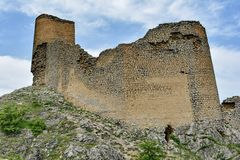 Remains of an ancient fortress Gala in Azerbaijan Royalty Free Stock Image