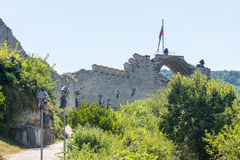 Remains of an ancient fortress in Lovech, Bulgaria royalty free stock images