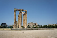 The remains of the ancient Greek buildings Stock Images