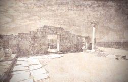 Remains of ancient greek city Chersonese. Crimea. Ukraine. Stock Photos