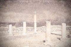 Remains of ancient greek city Chersonese. Crimea. Ukraine. Stock Photo