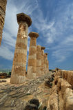 Remains of an ancient Greek temple of Heracles stock photo