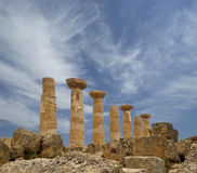 Remains of an ancient Greek temple of Heracles royalty free stock image