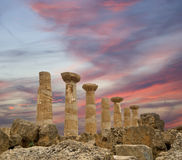 Remains of an ancient Greek temple of Heracles Stock Photos