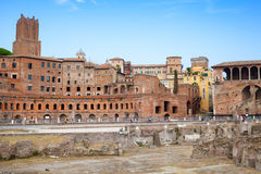 Remains of ancient Imperial forums in Rome, Italy Royalty Free Stock Photography