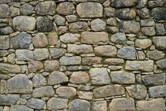 Remains of Ancient Inca Stone Wall in Machu Picchu, UNESCO World Heritage Site in Cusco Region, Peru. Texture Background royalty free stock image