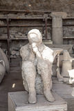 Remains of Ancient Mummy in Pompeii Stock Photo