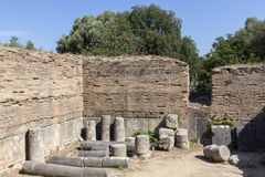Remains at ancient Olympia archaeological site in Greece Stock Photography