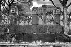 Remains of Ancient Ostia town built on both the sea and the Tiber river near Rome, Italy royalty free stock photo