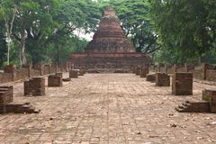Remains of an ancient pagoda. Stock Images