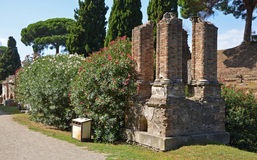 Remains of an ancient patrician tomb Stock Image