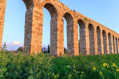 Remains of an ancient Roman aqueduct Stock Photo