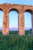 Remains of an ancient Roman aqueduct Royalty Free Stock Image