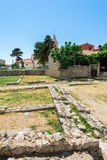 Remains of the ancient Roman cities in Nin in Croatia Stock Photo