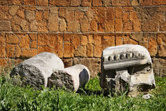 The remains of ancient  Roman Forum Royalty Free Stock Image