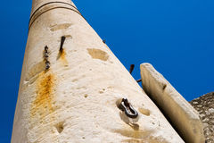 Remains of the ancient Romans in Zadar. Pillar of torture in Zadar. Stock Images