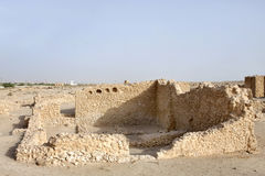 Remains of ancient rooms in Saar Village Stock Photo