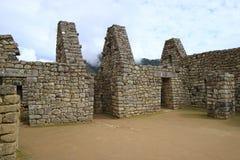 Remains of the ancient structure of Machu Picchu, UNESCO World Heritage site in Cusco Region, Urubamba Province, Peru, Archaeologi. Cal site stock photo
