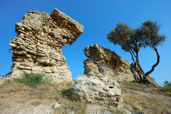 Remains of ancient walls Stock Image